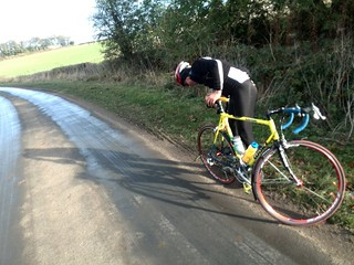 8 Dave W first puncture of the day