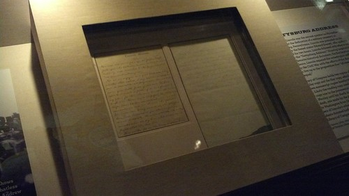 Gettysburg Address in Lincoln's hand