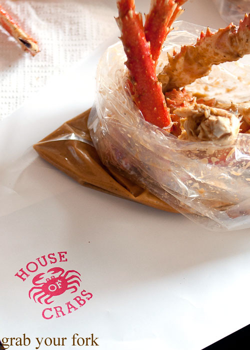 King crab boil at House of Crabs, Norfolk Hotel, Redfern