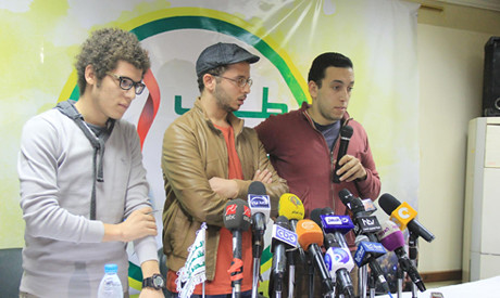 Egyptian Student Union representatives at press conference on November 30, 2013. They called for the dismissal of the minister of higher education. by Pan-African News Wire File Photos