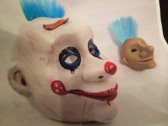 diy熊面具手绘图