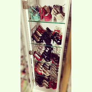 "Only about 65% of my big girls' shoes could fit in this new shoes storage.....How could I underestimated them =""="