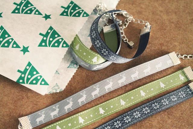 diy festive ribbon bracelets
