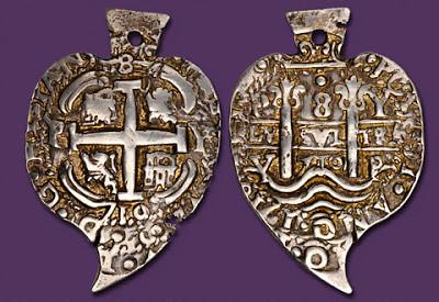 1710 Bolivia Heart coin
