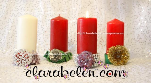 portavelas con tapones de plstico para navidad