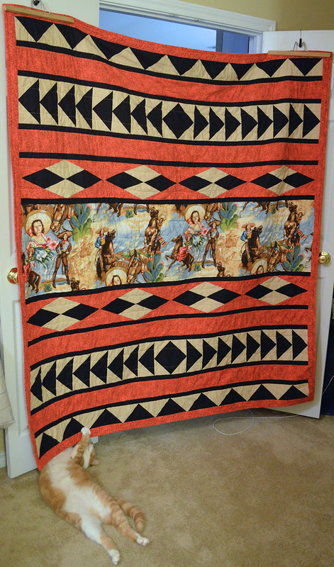 Quilt Inspired by a Saddle Blanket