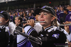 Perfect Piccolo ::  	   The Northwestern University 'Wildcat' Marching Band performs at Ryan Field as Northwestern Wildcat Football competes against Western Michigan University on September 14, 2013.  Photo by Daniel M. Reck (GSESP08).
