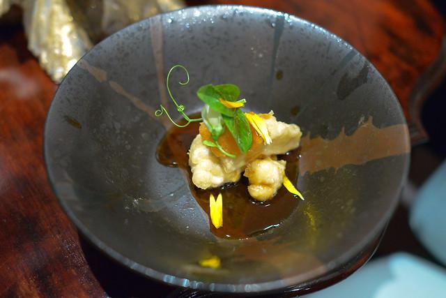 Cod Shirako Tempura matsutake tempura, ponzu sauce