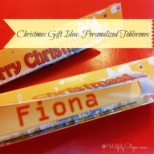 Personalized Toblerone for my friend!