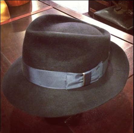 Teardrop Fedora by The Brass Rooster, Handmade Mens Hats
