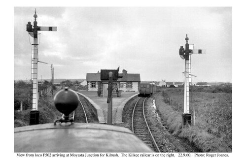 ireland blackwhite railways moyastajunction