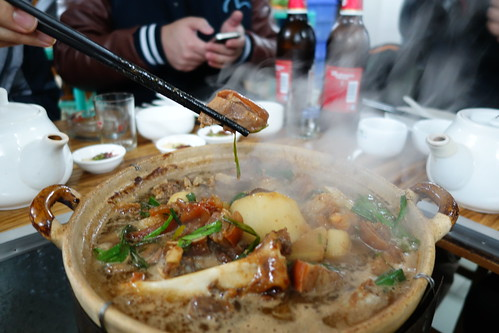 A piece of mutton for you? Mutton Hotpot dinner in Guangzhou, China.