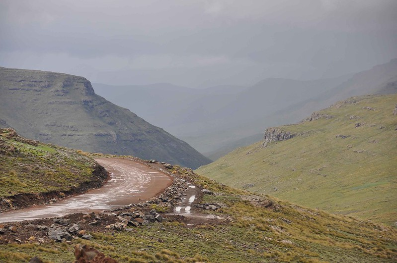 Lesotho in the rain
