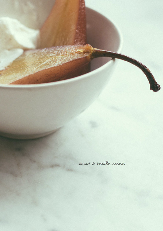 pears & vanilla cream