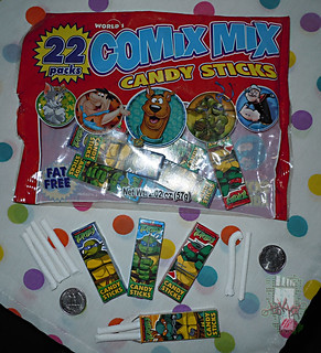WORLD Confections :: COMIX MIX CANDY STICKS i (( 2008 ))