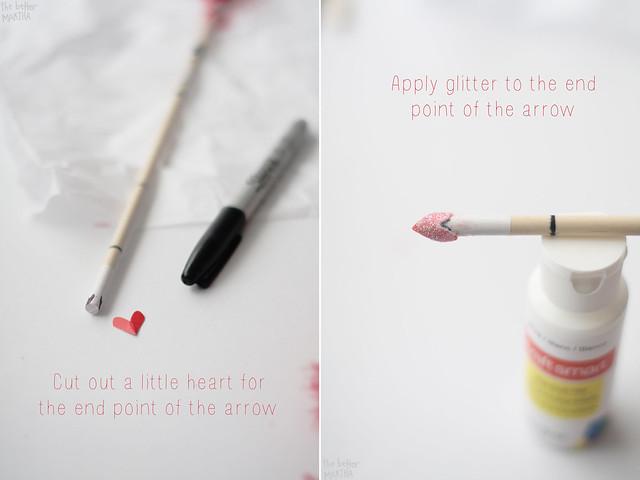 Cut heart glitter
