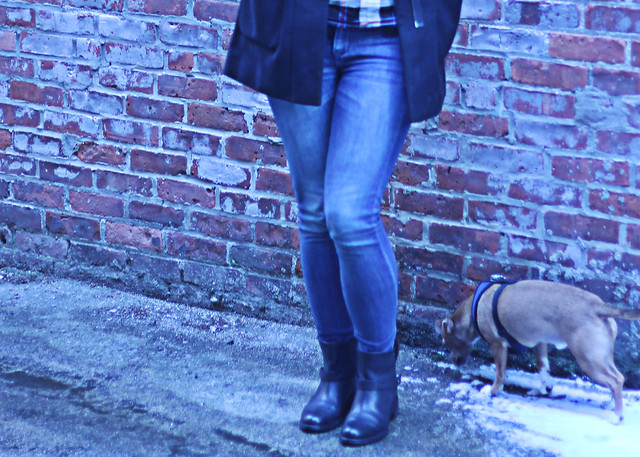 madewell denim and boots