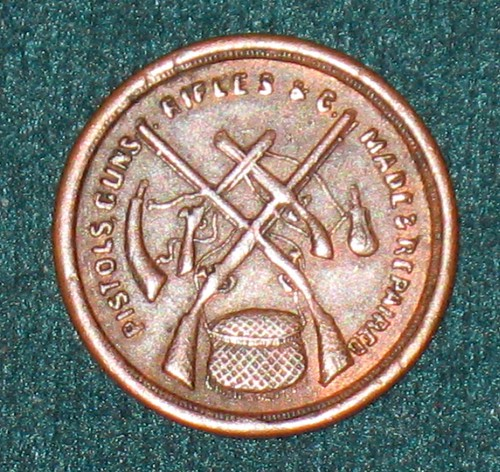 Gunsmith's Trade Token, Chicago - Circa 1861