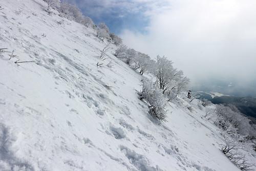 伊吹山の傾斜