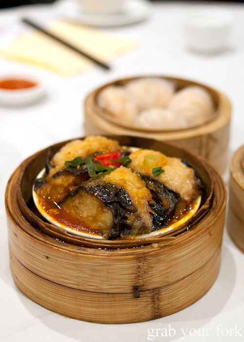 Braised eggplant with fish paste at The Eight, Chinatown