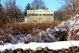 The 1838 Jay Mansion - Winter View From the Ha-Ha Wall