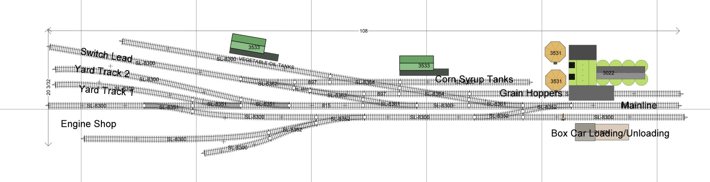 Railroad Line Forums Ho Cargill Mill Switching Layout