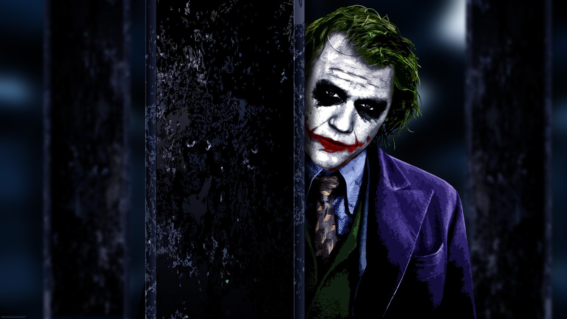 The Dark Knight - Joker - Top 10 HD Batman Movie Desktop Wallpapers