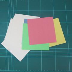 วิธีพับกล่องของขวัญแบบโมดูล่า (Modular Origami Decorative Box) โดย Tomoko Fuse 001