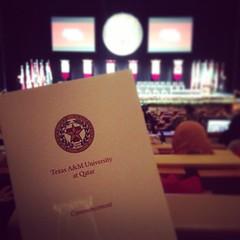 حفل تخرج طلاب جامعة تيكساس أي اند أم .. ألف مبرووووك للمهندسين  @tamuq graduation ceremony at the QNCC .. #WHOOP