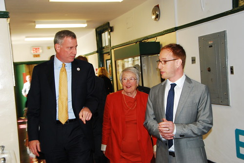 Bill De Blasio and Carmen Farina at BASE