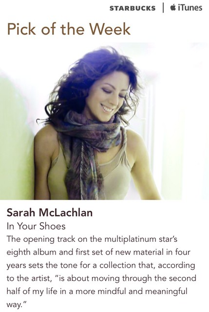 Starbucks iTunes Pick of the Week - Sarah McLachlan - In Your Shoes