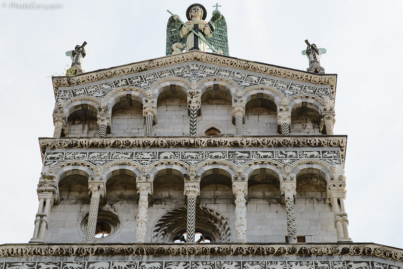 roof of Duomo San Michele in Lucca Italy