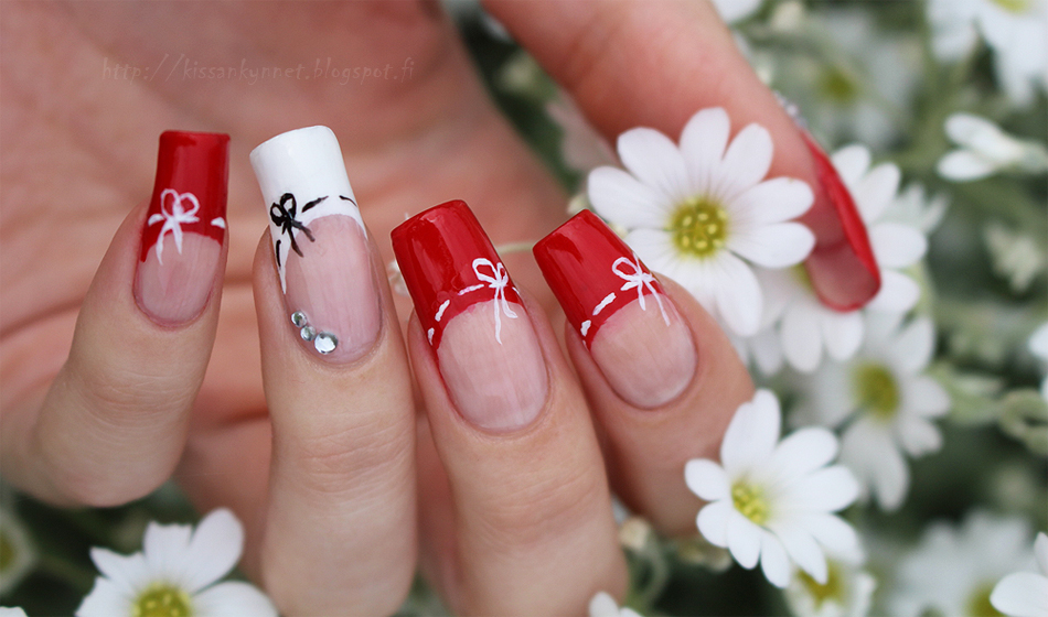 Red_french_manicure