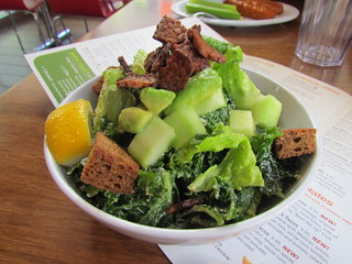 Kale Caesar at Veggie Grill