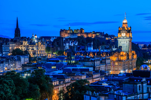 Evening in Edinburgh, Scotland
