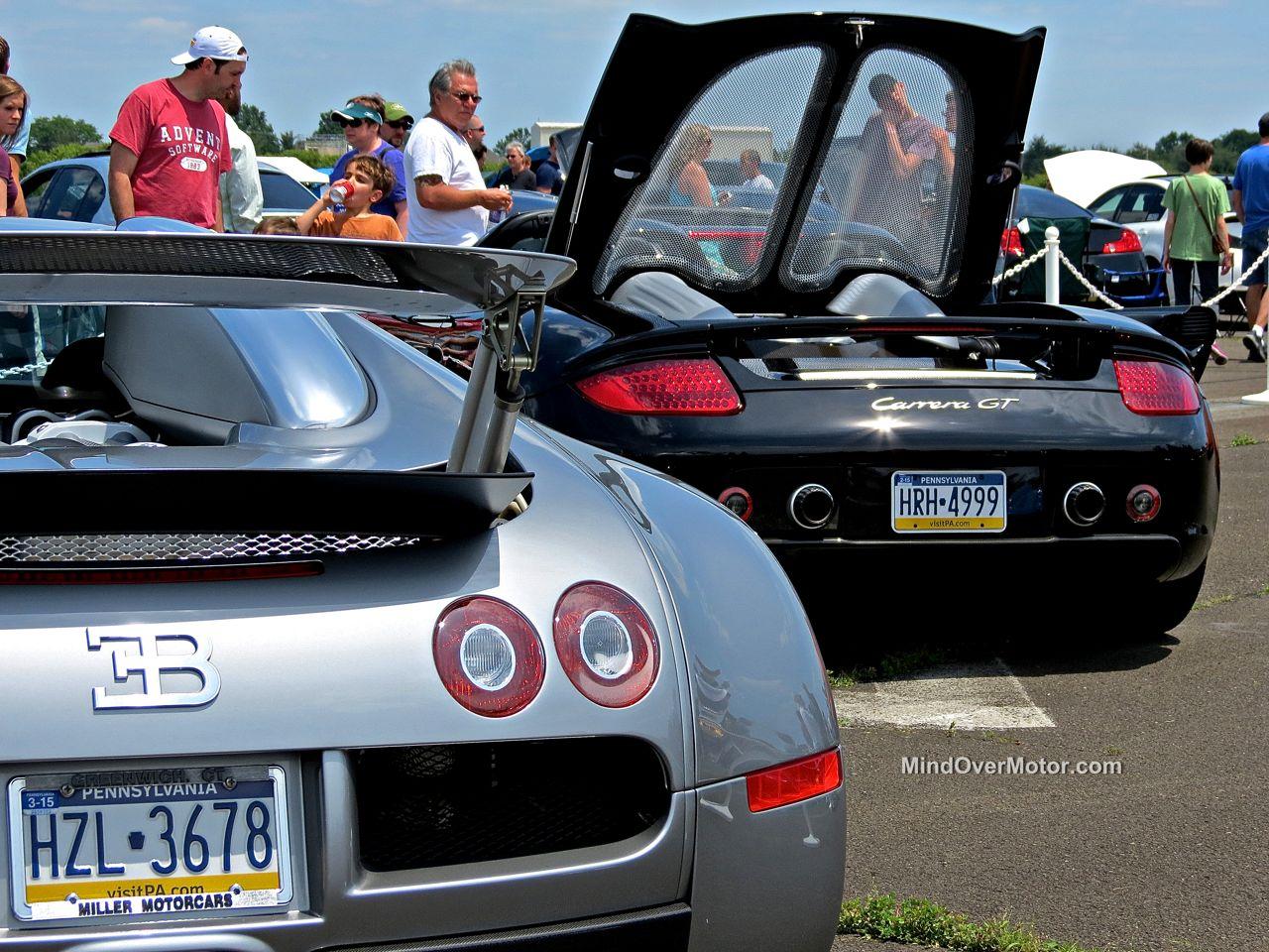 Bugatti Veyron and Porsche Carrera GT at CF Charities