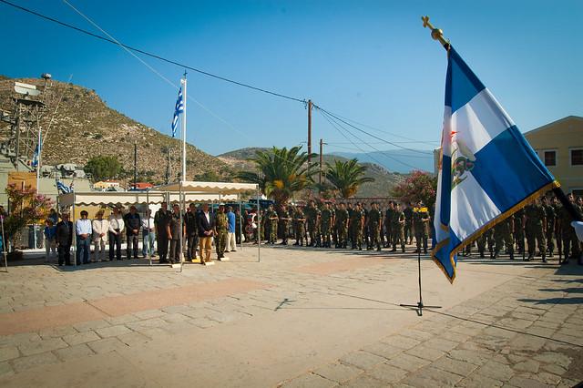 Επίσκεψη ΥΕΘΑ Δημήτρη Αβραμόπουλου στην 95 ΑΔΤΕ (Καστελόριζο, Ρόδος) - 7/2014