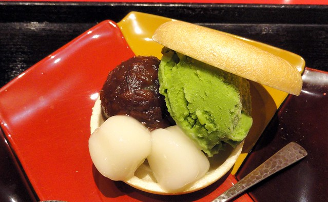 japan red bean green tea ice cream