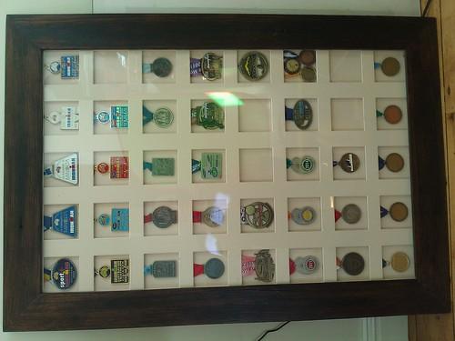 finisher medal display racks - Melbourne Marathon - CoolRunning Forums