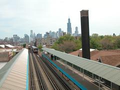20060508 09 CTA Blue Line L @ Ashland Ave
