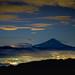 Fuji and city lights by shinichiro*