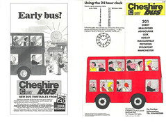 Cheshire Bus 201 Timetable 26101986a
