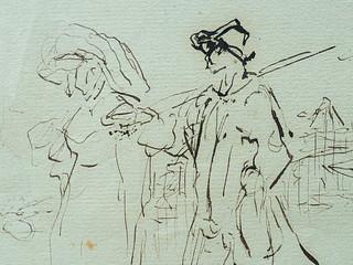 MILLET Jean-François,1850 - Départ pour le Travail, Etude - The Walk to Work  (drawing, dessin, disegno-Louvre RF11191) - Detail 35