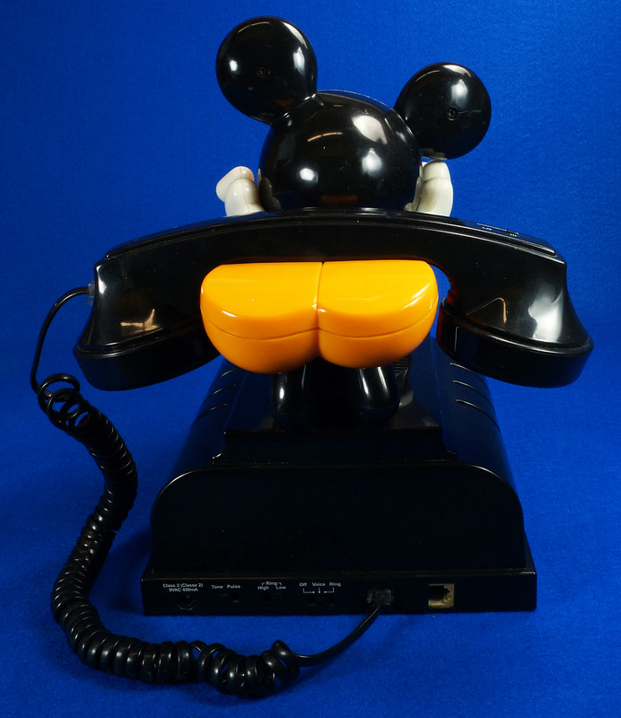 RD14898 Rare Vintage Mickey Mouse Talking Alarm Clock Radio Telephone DSC06902