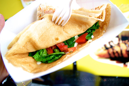 Tomato, Spinach, and Cheese Crepe at Pgh Crepes Cart
