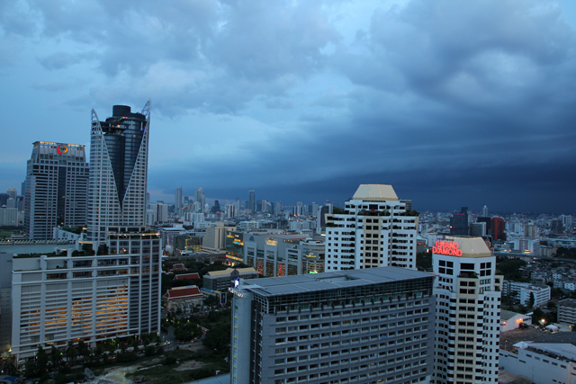 View of Bangkok from the 32nd floor of Amari Watergate Hotel