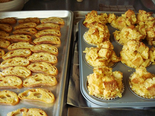 Stale Bread Transformed: Olive Oil Toast & Bread Pudding Muffin