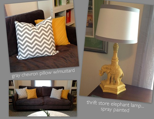 Gray chevron pillow
