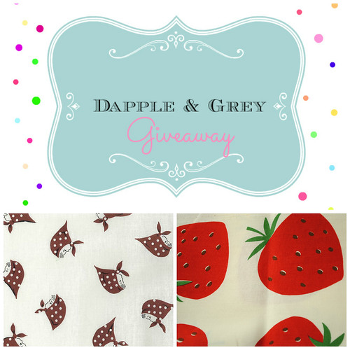 Open now - Giveaway of Kerchief Girls and Kokka Strawberries