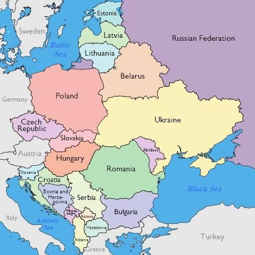 map-eastern europe